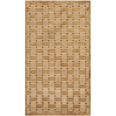 Grid Peach Area Rug Rug Size: Rectangle 5 x 6