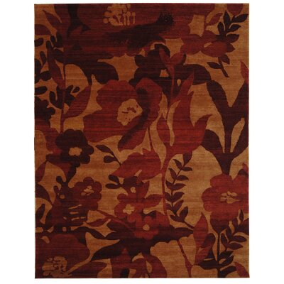 Bernick Tibetan Hand Knotted Wool Red Area Rug Rug Size: Rectangle 5 x 76