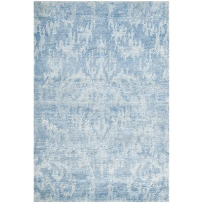 Forrester Tibetan Hand Knotted Blue Area Rug Rug Size: Rectangle 10 x 14