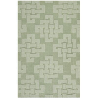 Scotchmann Knot Hand Tufted Wool Green Area Rug