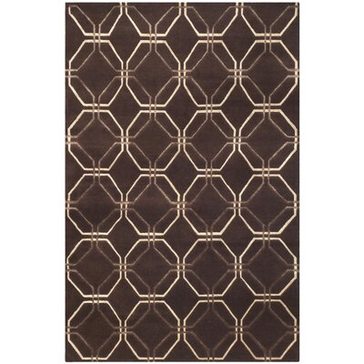 Brown Geometric Rug Rug Size: Rectangle 8 x 10