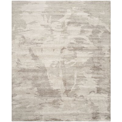 Forrester Tibetan Hand Knotted Silver Area Rug Rug Size: Rectangle 6 x 9