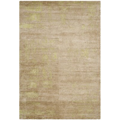Elrod Tibetan Hand Knotted Green Area Rug Rug Size: Rectangle 9 x 12