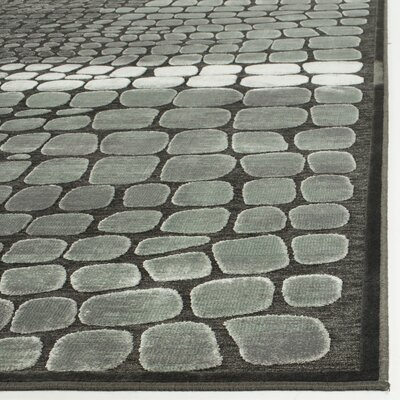 Sunny Anthracite Area Rug Rug Size: Rectangle 33 x 57