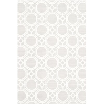 Badillo Hand-Knotted Ivory Area Rug Rug Size: Rectangle 9 x 12