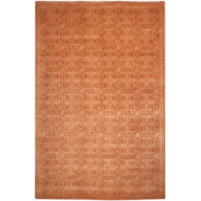 Claussen Tibetan Hand Knotted Wool Rust Area Rug