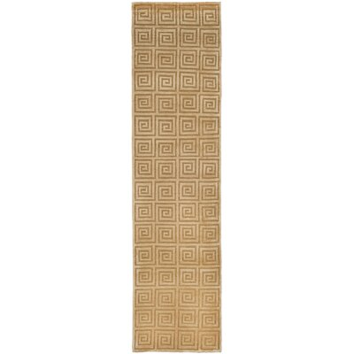 Fogg Tibetan Hand Knotted Wool Ivory Area Rug Rug Size: Runner 26 x 10