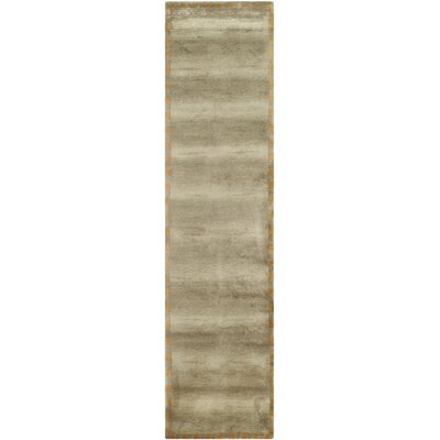 Sage / Green Rug Rug Size: Runner 25 x 12