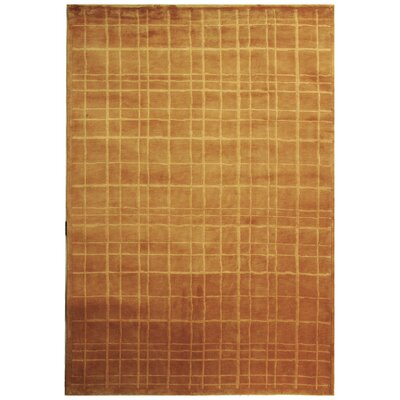 Dille Tibetan Hand Knotted Wool Rust Area Rug Rug Size: Rectangle 5 x 76
