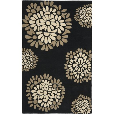 Sunny Petal Mosaic Hand Tufted Wool/Cotton Silhouette Area Rug Rug Size: Rectangle 4 x 6