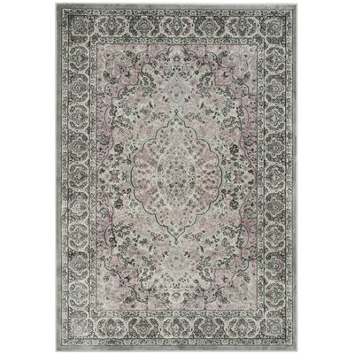 Georgina Silk Light Gray Area Rug Rug Size: Rectangle 4 x 57