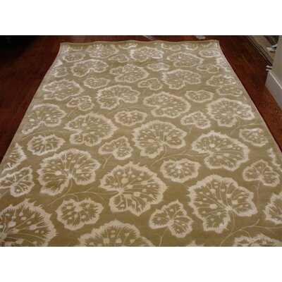 Sunny Geranium Leaf Hand Tufted Wool Chamomile Area Rug Rug Size: Rectangle 79 x 99