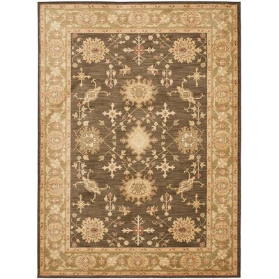 Oushak Brown/Green Area Rug Rug Size: Rectangle 96 x 13