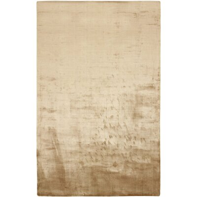 Beckett Hand-Loomed Old Gold Area Rug Rug Size: Rectangle 2 x 3