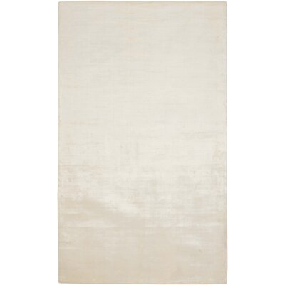 Beckett Hand-Loomed White Area Rug Rug Size: Rectangle 10 x 14