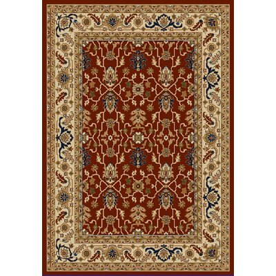 Whickham Red/Cream Area Rug Rug Size: Rectangle 96 x 13