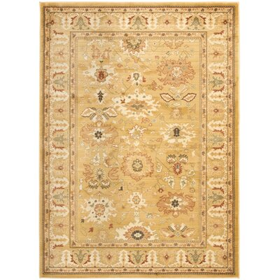 Nellwyn Gold Area Rug Rug Size: Rectangle 9'6
