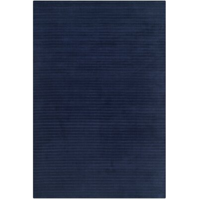 Upper Deck Hand-Woven Wool Navy Blue Area Rug Rug Size: Rectangle 10 x 14