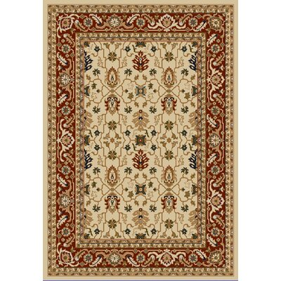 Whickam Cream/Red Area Rug Rug Size: Rectangle 96 x 13