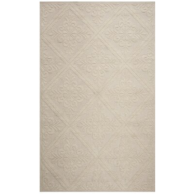 Wyatt Hand-Woven Ivory Area Rug Rug Size: Rectangle 4 x 6