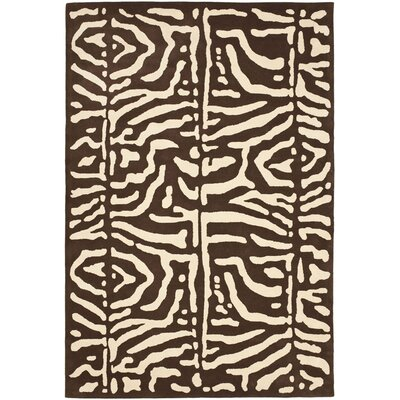 Alden Hand-Tufted Wool Safari Teak Area Rug Rug Size: Rectangle 5 x 8