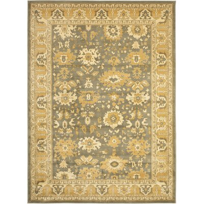 Nellwyn Blue/Gold Area Rug Rug Size: Rectangle 67 x 91