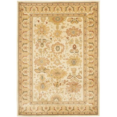 Nellwyn Cream Area Rug Rug Size: Rectangle 96 x 13