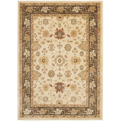 Walford Cream Area Rug Rug Size: Rectangle 96 x 13
