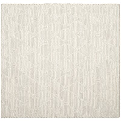 Millie Hand Woven Ivory Area Rug Rug Size: Square 6