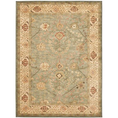 Oushak Beige Area Rug Rug Size: Rectangle 4 x 57