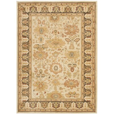 Nellwyn Cream Area Rug Rug Size: Rectangle 9'6