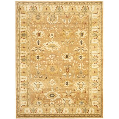Nellwyn Light Brown Area Rug Rug Size: Rectangle 96 x 13