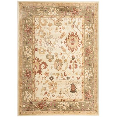 Brice Cream Area Rug Rug Size: Rectangle 26 x 4