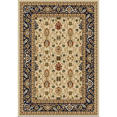 Whickam Cream/Navy Area Rug Rug Size: Rectangle 96 x 13