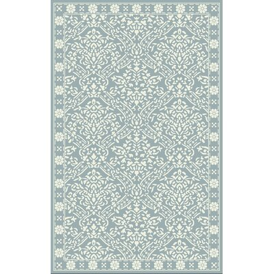 Olivier Hand Tufted Wool Blue/Ivory Area Rug Rug Size: Rectangle 5 x 8