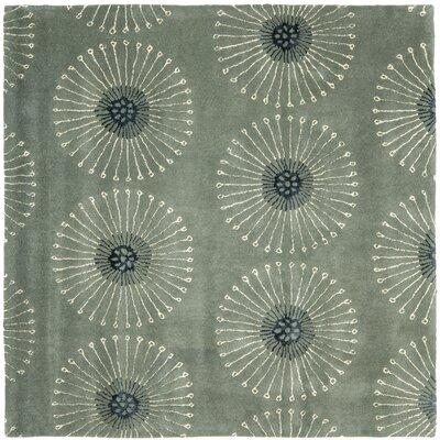 Soho Gray/Ivory Area Rug Rug Size: Square 6