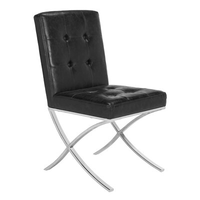Ouseman Upholstered Dining Chair Upholstery: Black
