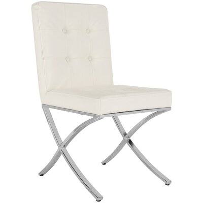 Ouseman Upholstered Dining Chair Upholstery: White
