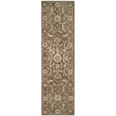 Anatolia Brown Grey Area Rug Rug Size: Runner 23 x 8