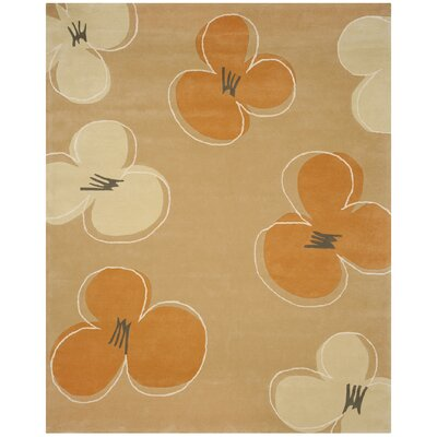 Chidi Hand-Tufted Gold / Assorted Area Rug Rug Size: Rectangle 76 x 96