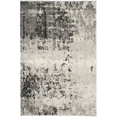 Dayna Gray Area Rug Rug Size: Rectangle 4 x 6