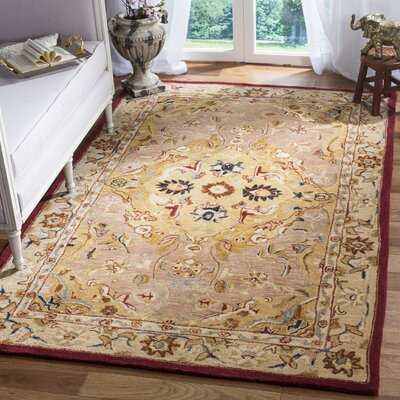 Anatolia Gold/Ivory Area Rug Rug Size: Rectangle 3 x 5
