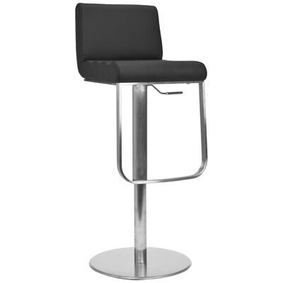 No credit financing Liam Leather Barstool in Black...