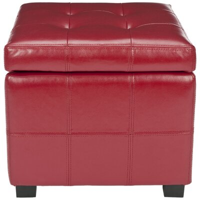 William Ottoman Upholstery: Red