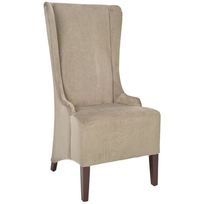 Oliva Cotton Parson Chair Upholstery: Mushroom Taupe