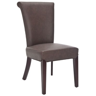 Kaden Bicast Leather Parson Chair (Set of 2)
