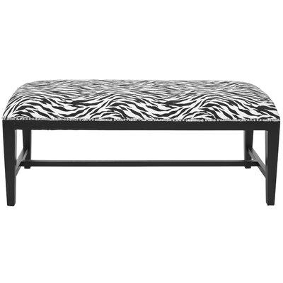 Nora Zebra Print Wooden Bench
