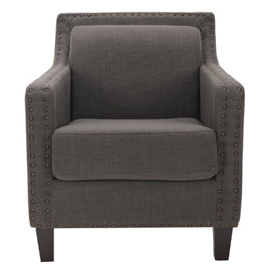 Lucy Armchair Upholstery: Charcoal Brown