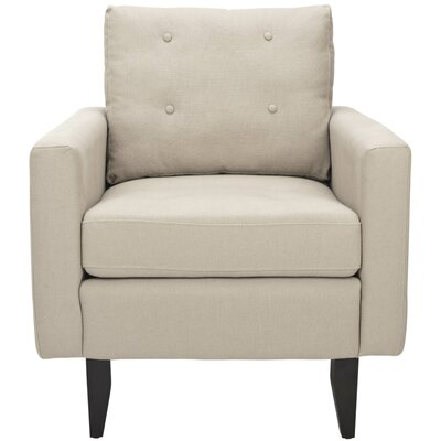Sophie Cotton Armchair Color: Taupe