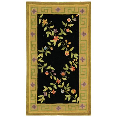 Molina Hand Tufted Wool Black/Gold Area Rug